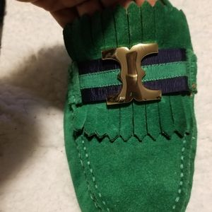 Authentic Tory Burch Suede Loafers